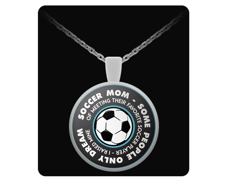 Necklace for Soccer Mom-Best Gift for Moms Mothers Daughters Who Love Soccer-Christmas And Birthday Gift Pendant Soccer Players Little Girl