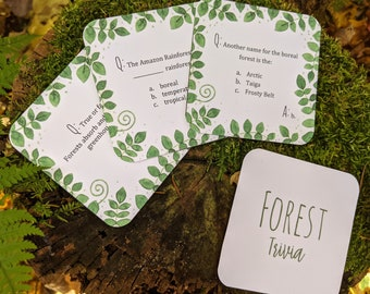 Forest Trivia Cards | Homeschooling Printable | Game