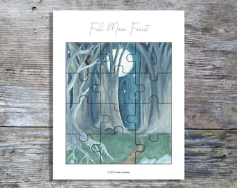 Full Moon Forest Puzzle | Homeschool Printable