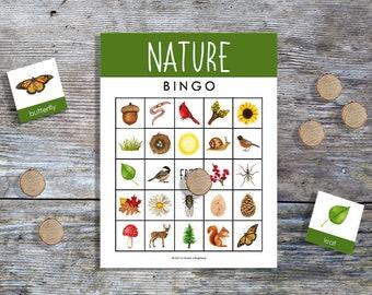 Nature Bingo | 20 Unique Game Cards | Printable Games