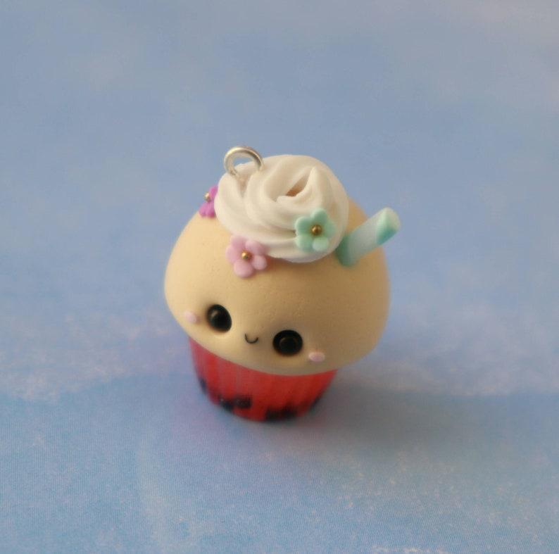 Strawberry Tea Kawaii Cupcake Charm