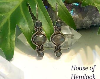 Labrodite earrings