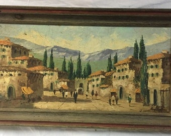 J.CABANE Spanish painter , Eearly century oil on canvas ...VERY RARE