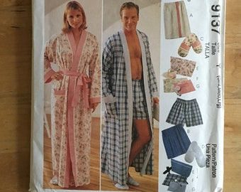 ea6bcfe778 McCall s Pattern 9137 Misses  and Men s robe