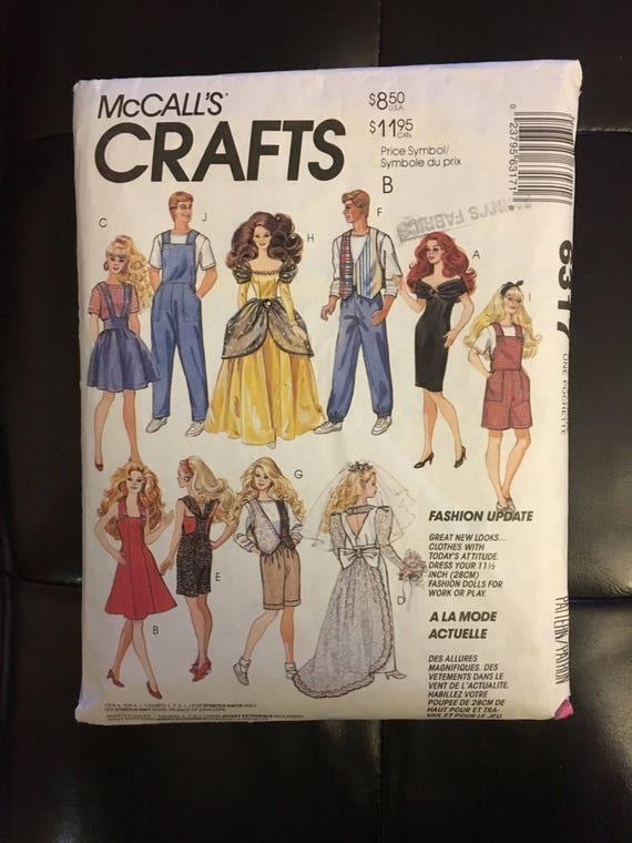 Schnittmuster für Barbie und Ken Puppe Hose Hochzeitskleid | Etsy