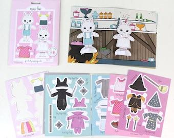 Bunny Pocket Pal - Paper Doll Set