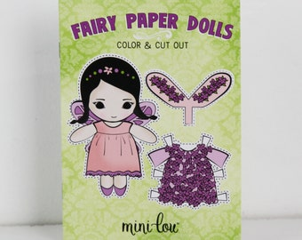 Fairy Paper Dolls Activity Book
