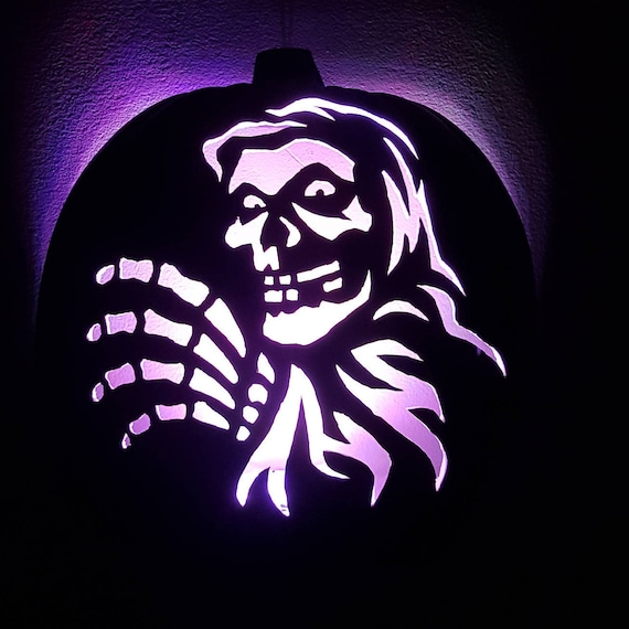Items Similar To Hand Carved Misfits Crimson Ghost Light Up Wall