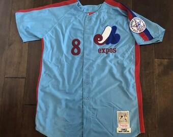 Mitchell   Ness Montreal Expos Gary Carter Retro Blue Baseball JerseyMen 52  XL 40db05b41