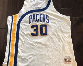 deb0e055c50 George McGinnis Indiana Pacers Mitchell   Ness Authentic Basketball  JerseySz 56