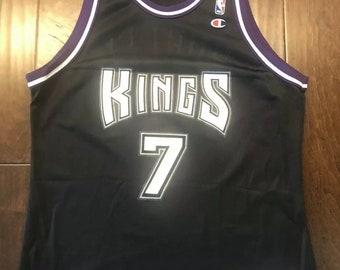 0cd7dc48932 Sacramento Kings NBA Vintage Black Bobby Hurley Champion JerseyAdult 48/XL