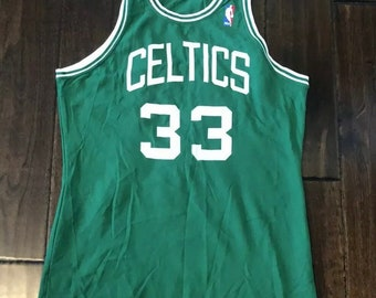 ff0bec7b424 Larry Bird Boston Celtics McGregor Sand-Knit Vintage Basketball JerseyMen  Med