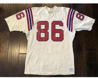 b6022affd Vintage Sand Knit New England Patriots Stanley Morgan NFL Football Jersey  Men Lg