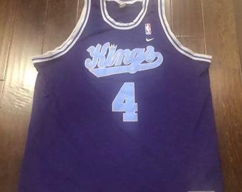 SACRAMENTO KINGS Chris Webber Nike Rewind Purple Basketball Jersey Mens 2XL 6cf6f01f7