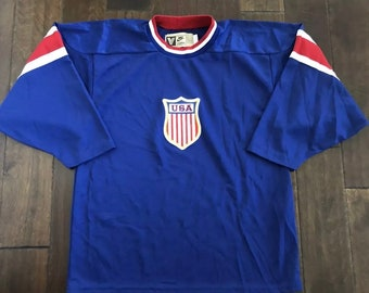 8d2854e13 Vintage Authentic Nike Team USA V-Series NHL Hockey JerseyMen s Medium