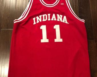 955bedcbab7 Hardwood Legends Indiana Hoosiers Isiah Thomas  11 Basketball JerseyMens 4XL