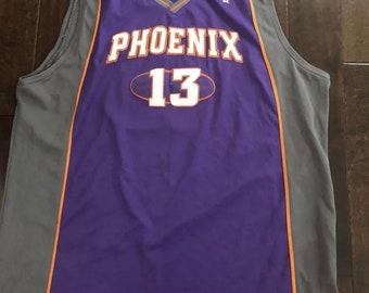 a8a6d5339b6 Vintage Phoenix Suns Steve Nash Reebok Stitched Purple Basketball Jersey  Mens 60