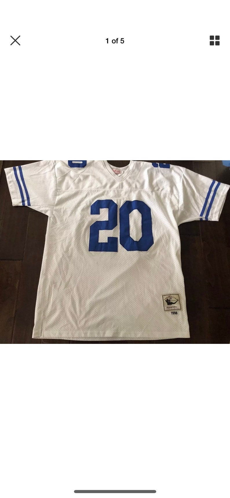 the best attitude 5cd57 3bf94 Barry Sanders Mitchell & Ness Detroit Lions White Football JerseyMen's 56