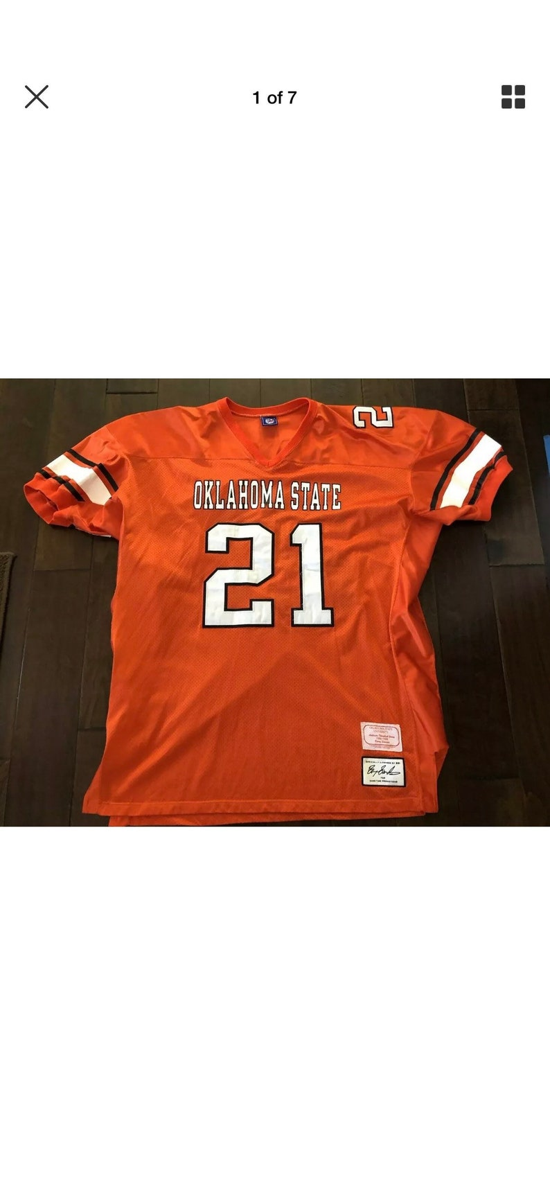 release date: 79166 5f9f0 Barry Sanders Oklahoma State Game Time Promotions Authentic Stitched  JerseyMen's 4XL