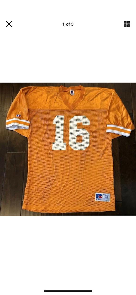 newest f5346 cbf97 Vintage Russell Athletic Peyton Manning Tennessee Volunteers Vols Pro Cut  JerseyMen's 48/XL