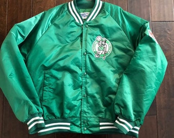 Vintage Boston Celtics ChalkLine Lined Nylon Basketball JacketMen/Adult Lg