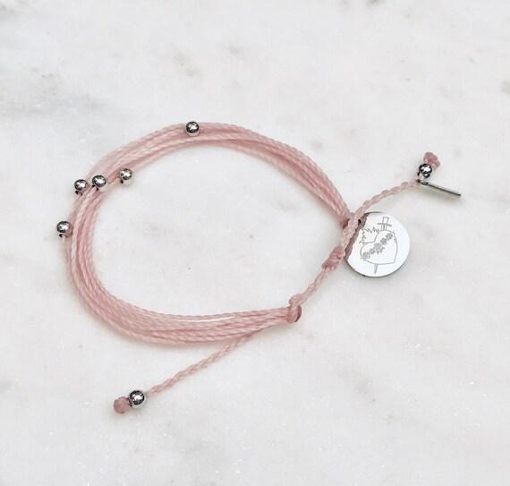 Brown Scapular Scapular Bracelet Couple Gift Immaculate Heart Catholic Gift Women Bracelet Men Bracelet Sacred Heart