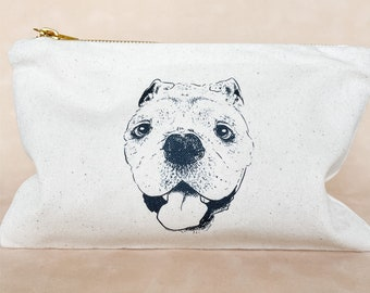 Pet Portrait Cosmetic Bag, Custom
