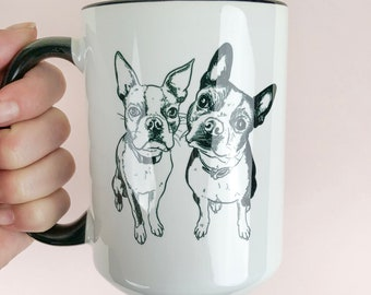 Pet Portrait Mug, 15oz, Custom