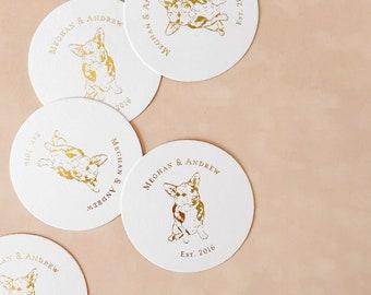ONE PET, Pet Drink Coasters, Custom, Wedding and Home Decor