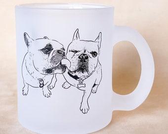 Frosted Pet Portrait Mug, 11oz, Custom
