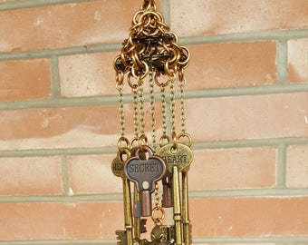 Antique Style Key, Steampunk Mobile/Chimes