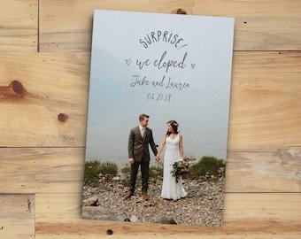 elopement announcement etsy