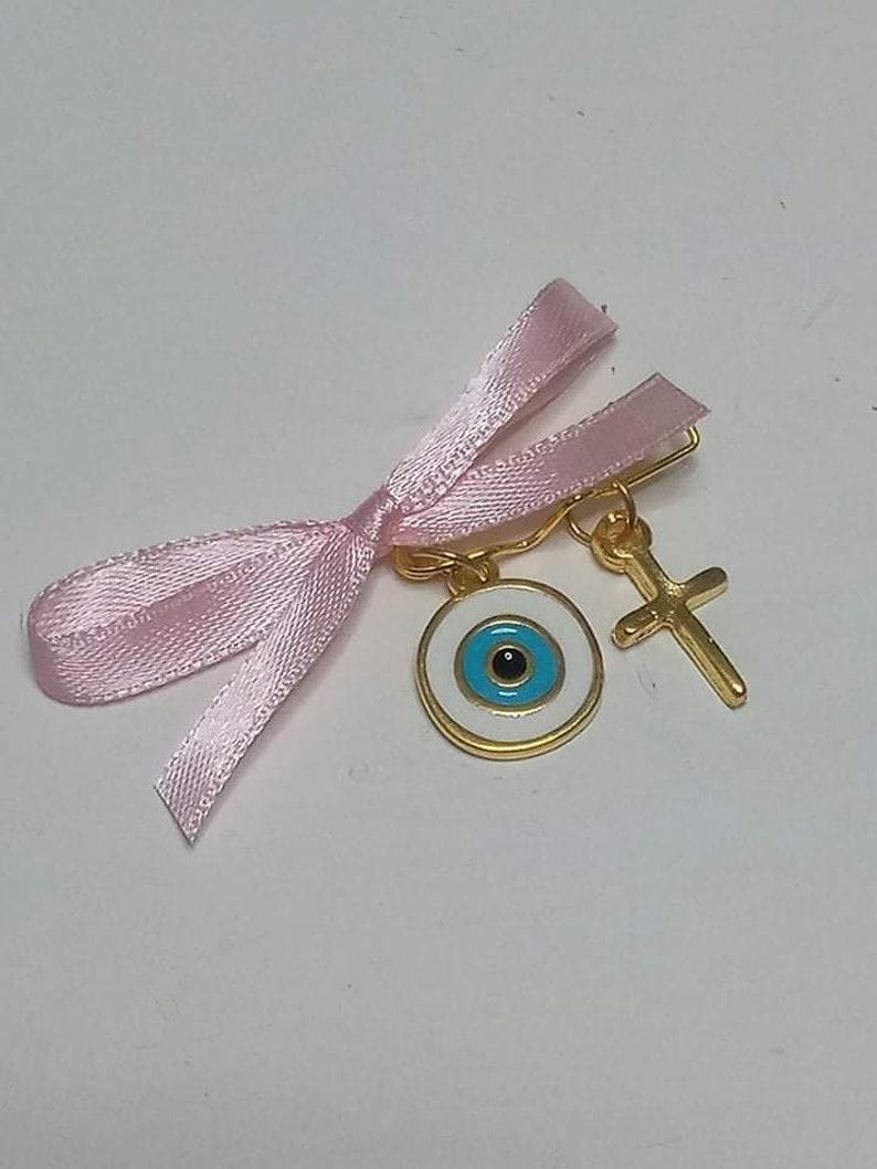 Martirika Pin Mati,Witness Bracelet Evil Eye Orthodox Baptism Greek Martyrika 5x Girl  Witness Pins Greek Christening Martyrika