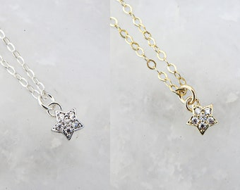 Sterling Silver Star Necklace / Gold Fill Star Necklace / Tiny Star Necklace / Tiny Gold Star / Tiny Silver Star / Gifts For Her