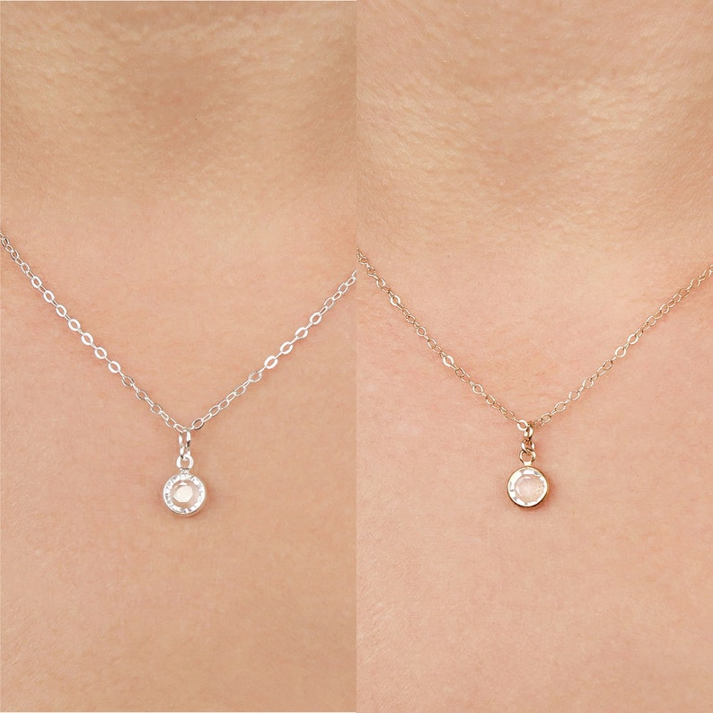 Swarovski Crystal Necklace / Delicate Crystal Necklace / image 0