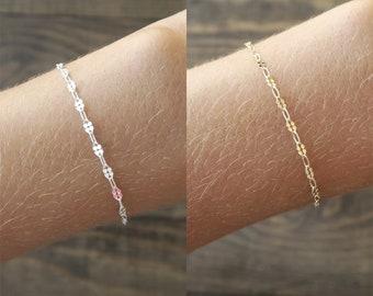 Dainty Silver Bracelet / Dainty Gold Bracelet / Delicate Bracelet / Thin Gold Bracelet / Simple Bracelet / Sterling / Gifts For Her