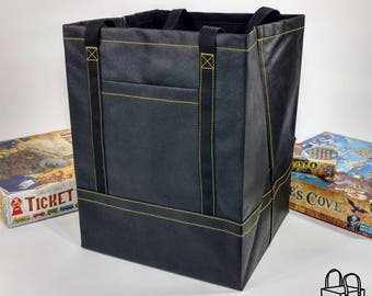 The Board Game Tote (yellow stitching)