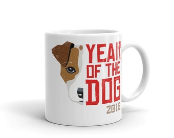 Jack Russell Terrier - Jack Russell Mug - Cute Jack Russell Gift - Year of the Dog - Jack Russell Art - Jack Russell Coffee Cup - Chinese Ne