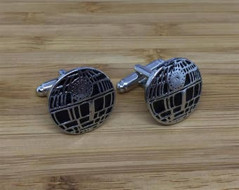 Star Wars Death Star Cuff Links Cufflinks Gifts Fathers Day Dad Birthday Christmas Gifts Starwars Vader Deathstar Secret Santa Wedding