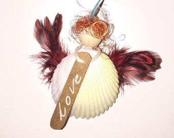 Love Angel with cord for hanging