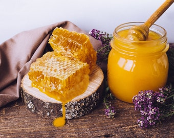 Cream honey from Sicily 250 ml - creamy without additives - without chemicals - pure in-house honey