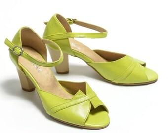 Muli Green shoes-leather women shoes - Muli   7 cm heel
