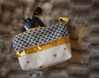 Kit cotton canvas stars and sequins gold