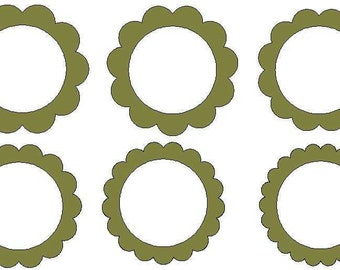 Scalloped circles