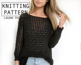 fecc349bf60386 Lace knit sweater