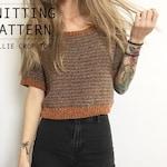 KNITTING PATTERN || Callie Crop Top || Knit Shirt || Knit Blouse