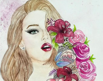 Crying flowers - Original watercolor painting