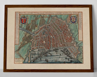 Old Amsterdam Map Etsy - Amsterdam old map