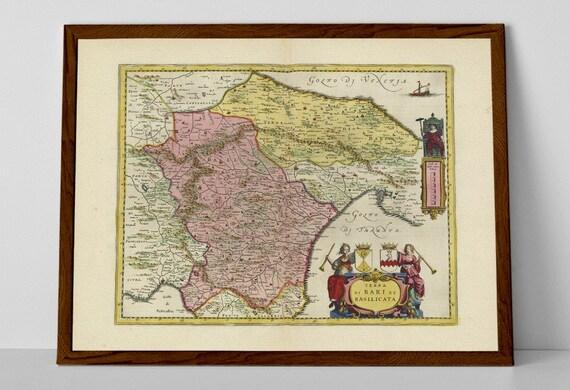Bari Old Map Print Of Italy Bari Ostuni Alberobello Etsy