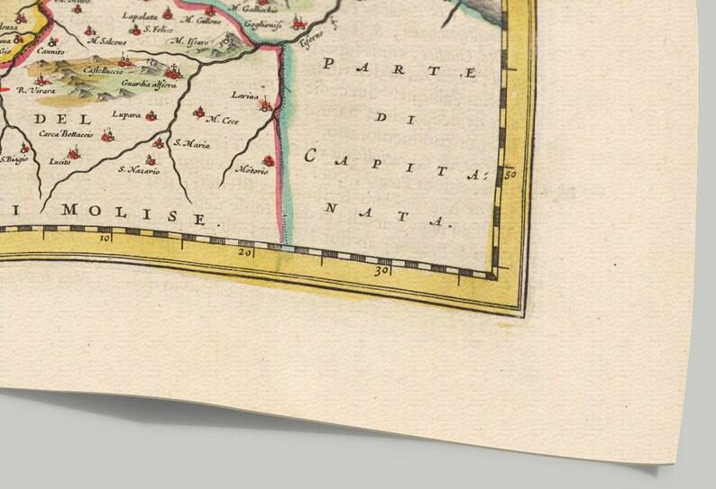 Campobasso Old Map Print of Abruzzo Pescara L'Aquila | Etsy